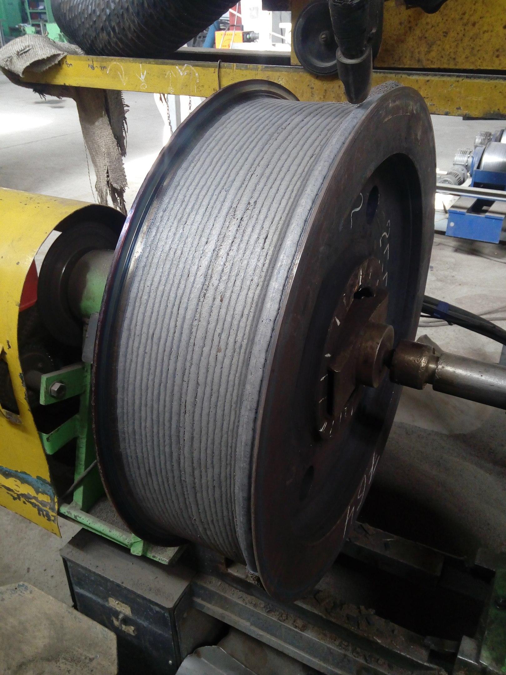 Восстановление крановых колес наплавкой